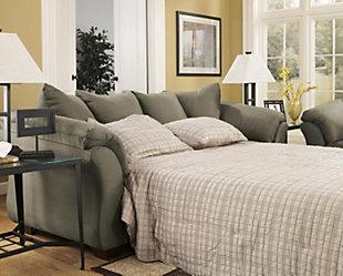 Darcy Full Sofa Sleeper, Sage, large