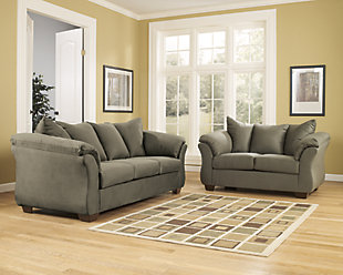 Darcy Sofa and Loveseat, Sage, large