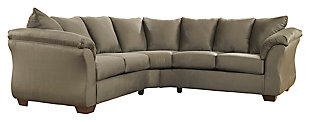 Darcy 2-Piece Sectional, Sage, large