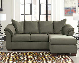 Darcy Sofa Chaise, Sage, large