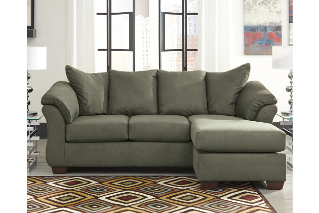 Darcy Sofa Chaise Sage Large