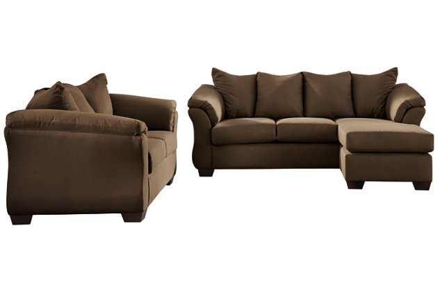 Darcy Sofa Chaise & Loveseat, Seal, large