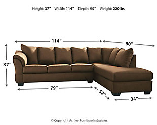 Darcy 2-Piece Sectional with Chaise, Cafe, large