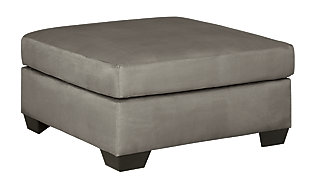 Darcy Oversized Accent Ottoman, Cobblestone, large