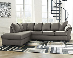 Darcy 2-Piece Sectional with Chaise, Cobblestone, rollover