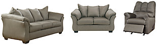 Darcy Sofa, Loveseat and Recliner, Cobblestone, large