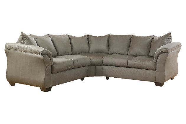 Darcy 2-Piece Sectional by Ashley HomeStore, Gray, Polyester (100 %)