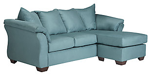 Darcy Sofa Chaise, Sky, large