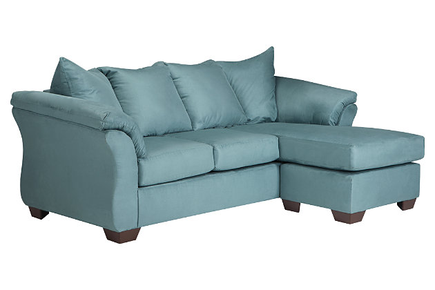Blue Darcy Sofa Chaise by Ashley HomeStore, Polyester (100 %)