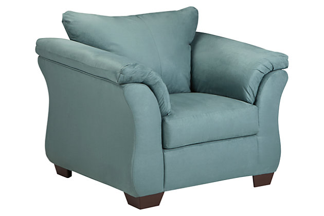 Blue Darcy Chair by Ashley HomeStore, Polyester (100 %)