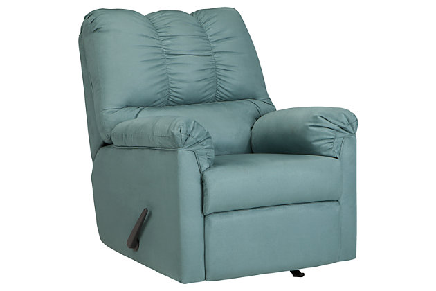 Blue Darcy Recliner by Ashley HomeStore, Polyester (100 %)