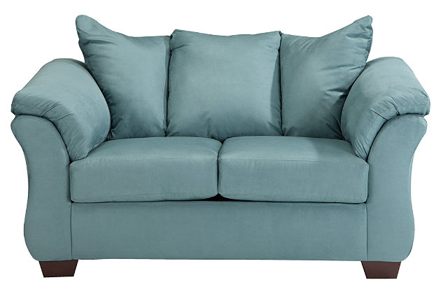 Darcy Sofa Chaise & Loveseat, Sky, large