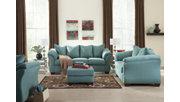 Darcy Full Sofa Sleeper, Sky, large