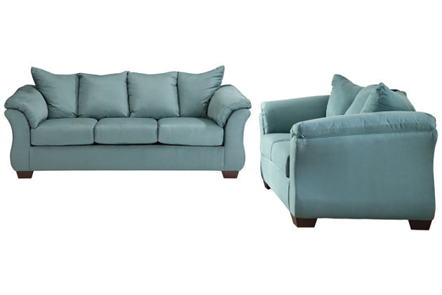 Darcy Sofa and Loveseat, Sky, large