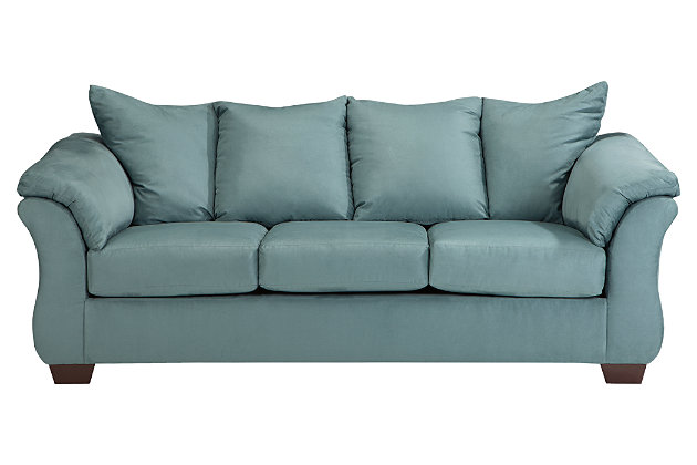 Blue Darcy Full Sofa Sleeper by Ashley HomeStore, Polyester (100 %)