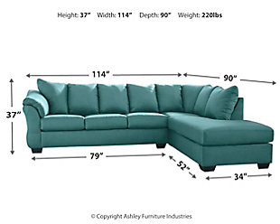 Darcy 2-Piece Sectional with Chaise, Sky, large