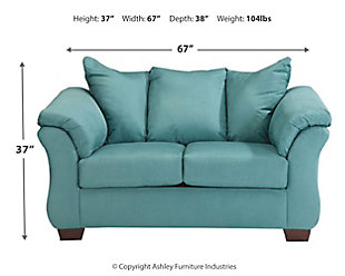 Darcy Loveseat, Sky, large