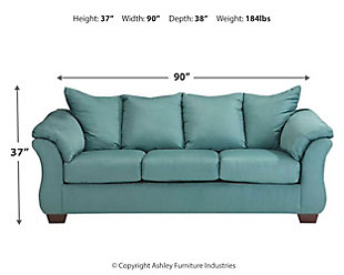Darcy Full Sofa Sleeper, Sky, large