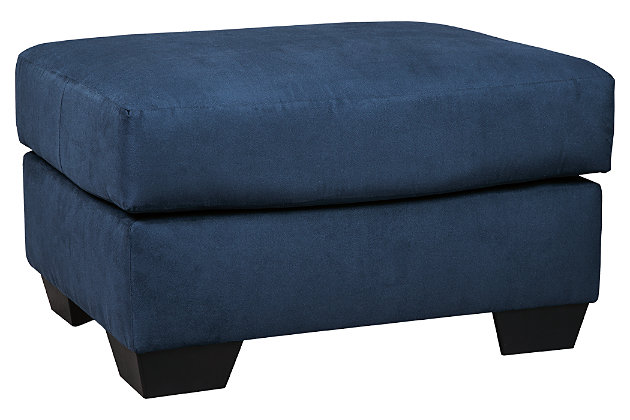 Darcy Ottoman, Blue, large