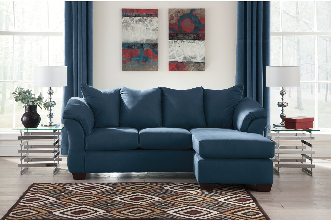 Awe Inspiring Darcy Sofa Chaise Ashley Furniture Homestore Inzonedesignstudio Interior Chair Design Inzonedesignstudiocom