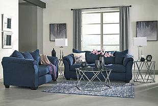 Darcy Sofa, Blue, large