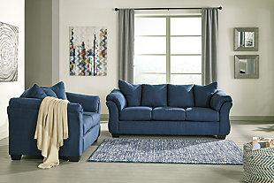 Darcy Loveseat, Blue, large