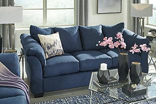 Darcy Full Sofa Sleeper, Blue, large