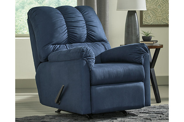 Darcy Recliner, Blue, large