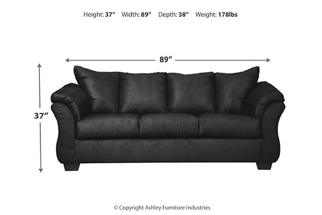Darcy Full Sofa Sleeper, Black, large