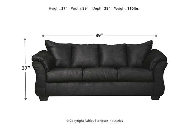 Darcy Sofa, Black, large