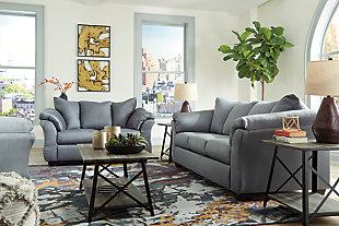 Darcy Sofa, Steel, large