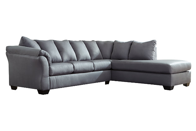 Darcy 2-Piece Sectional with Chaise, Steel, large