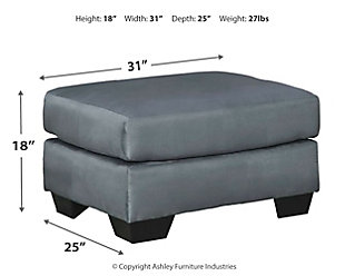 Darcy Ottoman, Steel, large