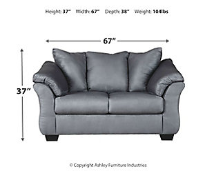 Darcy Loveseat, Steel, large