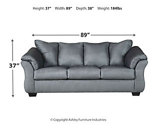 Darcy Full Sofa Sleeper, Steel, large
