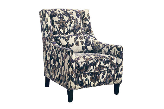 High Quality Sloped Arms And Dramatic Profile Of This Retro Modern Living Room Chair