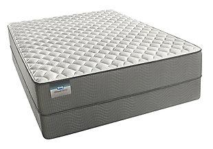 BeautySleep Long Beach Firm Twin XL Mattress, White/Gray, large