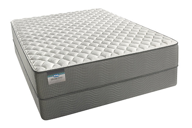 BeautySleep Long Beach Firm Queen Mattress, White/Gray, large