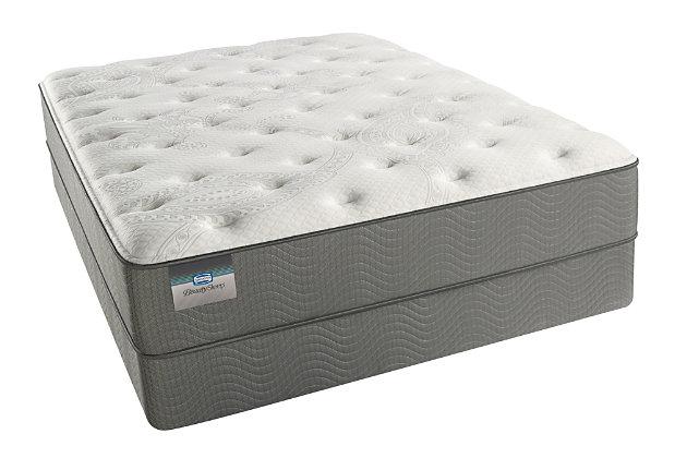 BeautySleep Long Beach Plush Twin XL Mattress, White/Gray, large