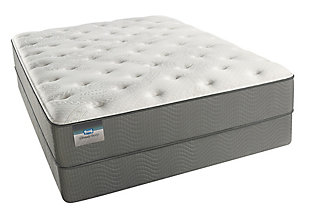 BeautySleep Long Beach Plush Queen Mattress, White/Gray, rollover