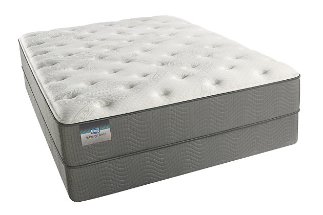 BeautySleep Long Beach Plush Queen Mattress, White/Gray, large