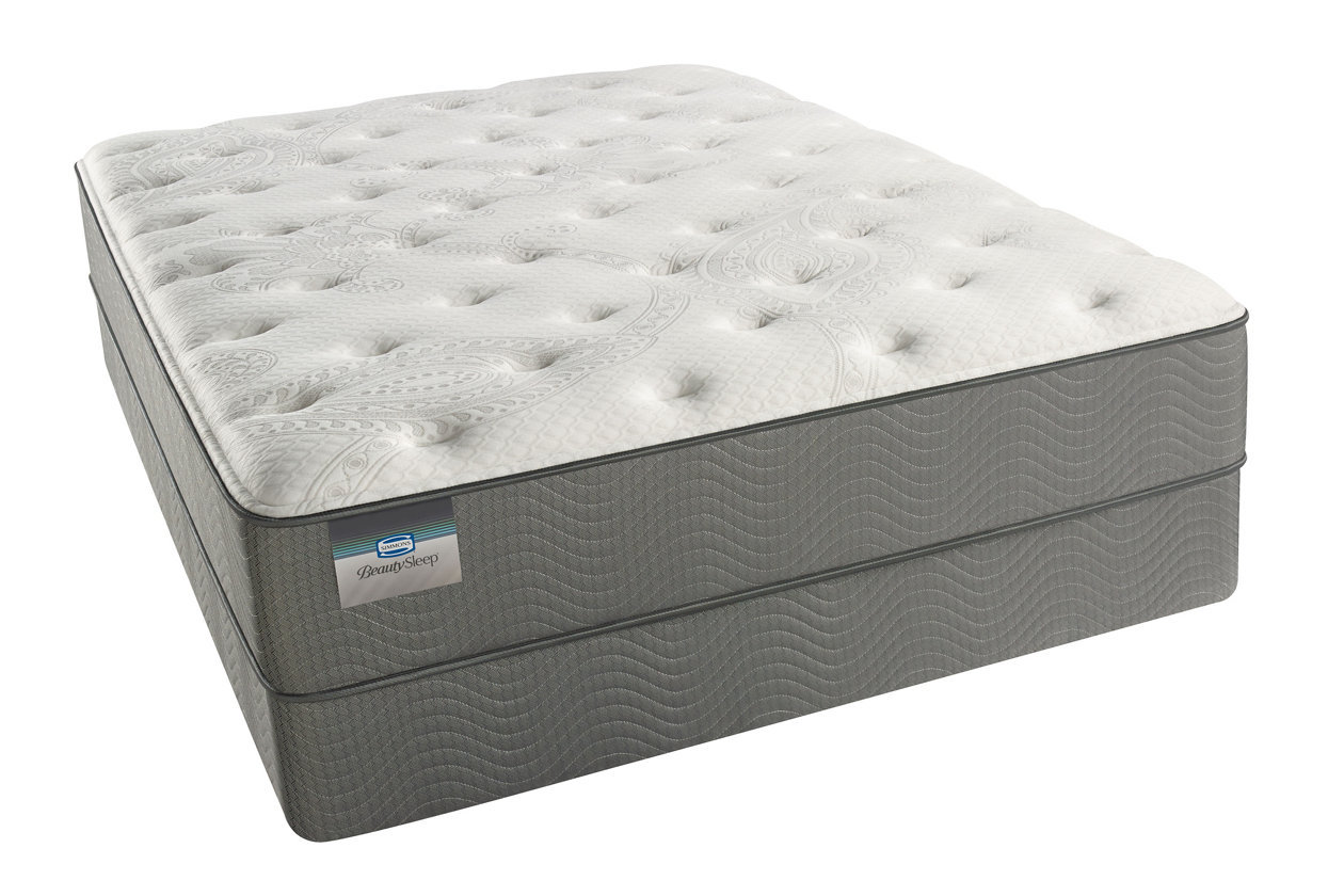 Beautysleep Long Beach Plush Queen Mattress White Gray
