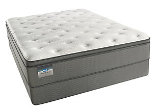 BeautySleep Long Beach Luxury Firm Pillow Top Queen Mattress, White/Gray, large
