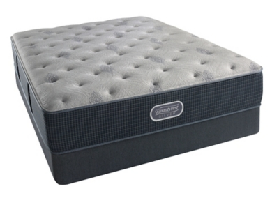 Ashley Silver Oceanside Plush Twin Mattress Beautyrest