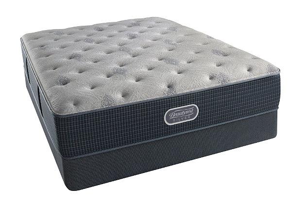 Beautyrest Silver Oceanside Plush Full Mattress, White/Gray, large