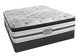 Beautyrest Platinum Hampden Luxury Firm Pillow Top Queen Mattress, White/Gray, large