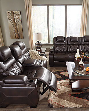 Warnerton Power Reclining Loveseat with Console, , large