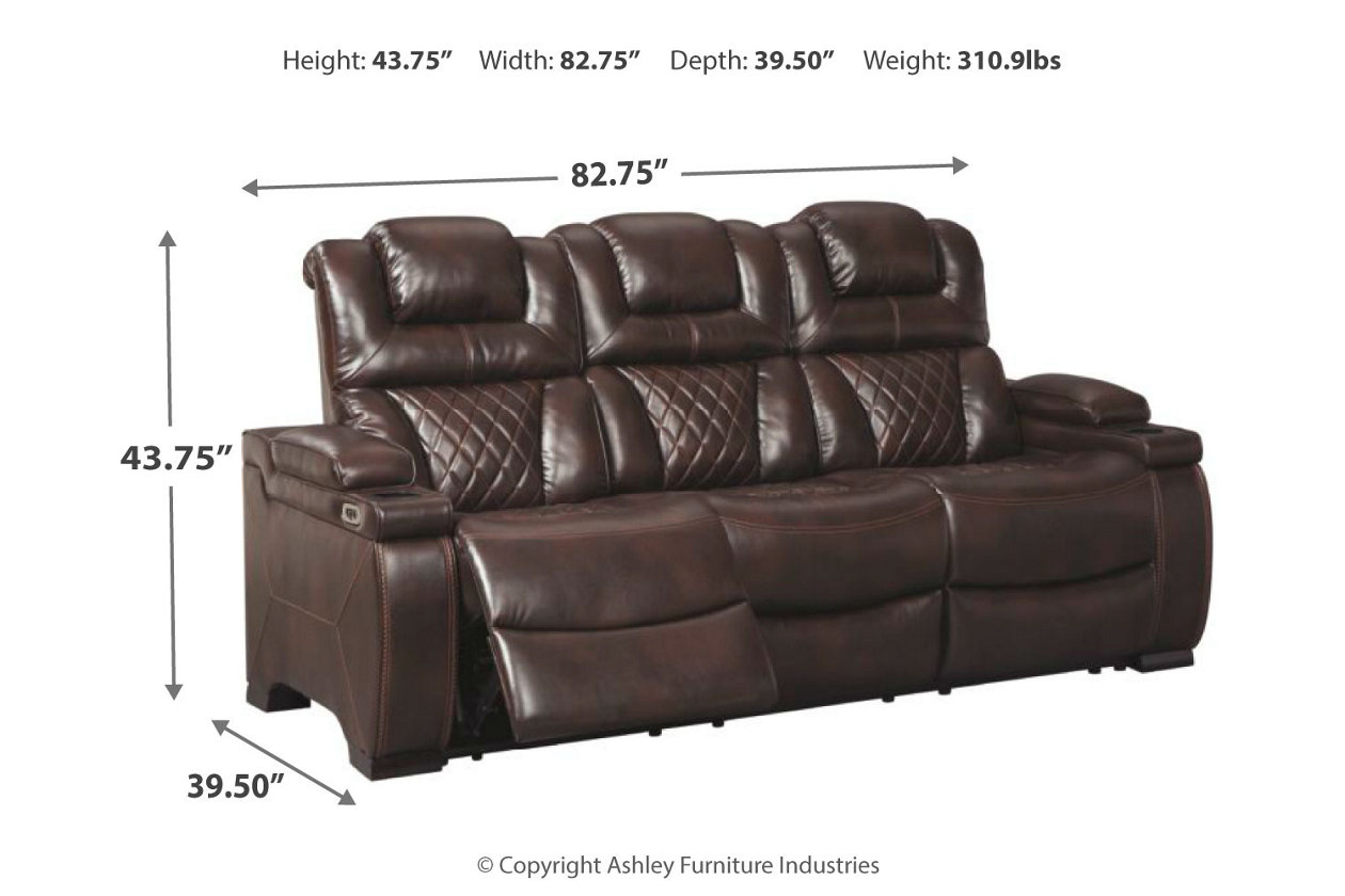 Magnificent Warnerton Power Reclining Sofa Ashley Furniture Homestore Caraccident5 Cool Chair Designs And Ideas Caraccident5Info