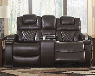 Warnerton Power Reclining Loveseat with Console, , rollover