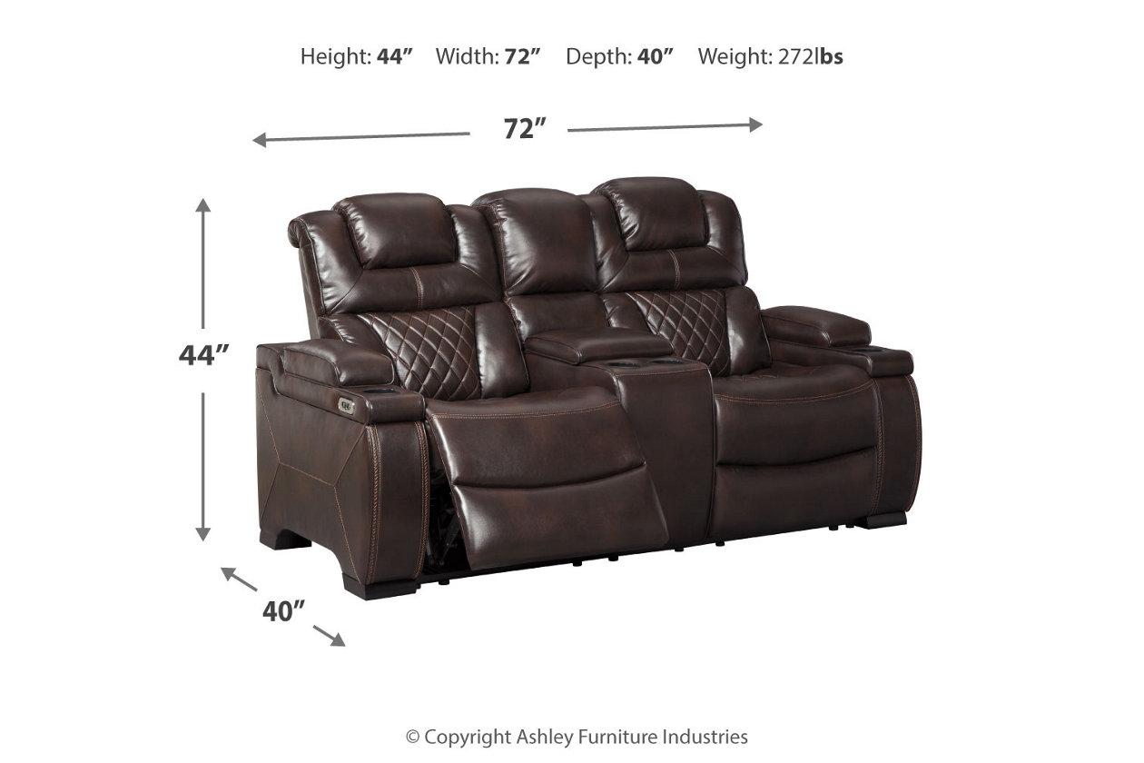 Warnerton Power Reclining Loveseat With Console Ashley Furniture Homestore